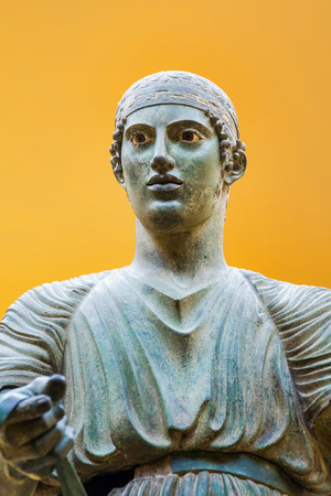 delfi: Charioteer of Delphi Stock Photo