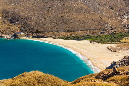 andros: Achla beach, Andros, Greece Stock Photo