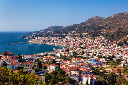 greece shoreline: Vathy port in Samos island Greece