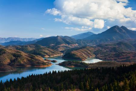 mediterranean forest: Plastiras lake in Karditsa, Greece Stock Photo