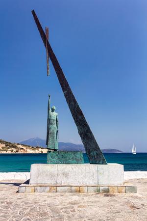 Pythagoras statue, Samos, Greece photo