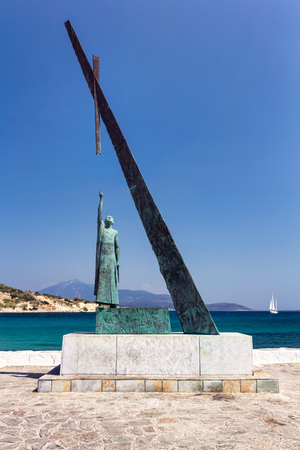 Pythagoras statue, Samos, Greece photo