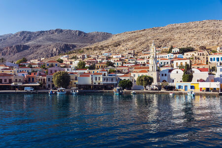 halki: Port of Chalki island, Greece