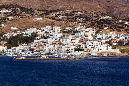 andros: Batsi village in Andros island, Greece