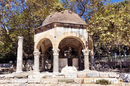 hippocrates: Plane Tree of Hippocrates, Kos island Greece Stock Photo