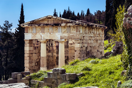 delfi: Ancient Greek temple, Delphi Greece