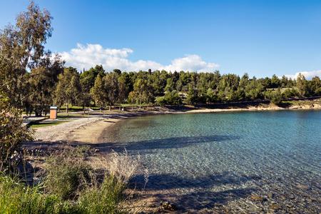 mainland: Galaxidi beach in Greek mainland