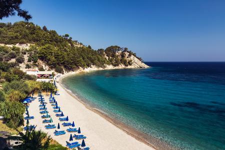 mediterranean forest: Lemonakia beach, Samos island, Greece Stock Photo