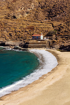 andros: Achla beach in Andros island, Greece