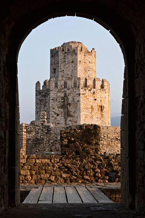 bourtzi: Bourtzi tower in Methoni Venetian fortress Stock Photo