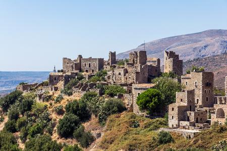 peloponnesus: Vathia historic village in Peloponnese, Greece Stock Photo