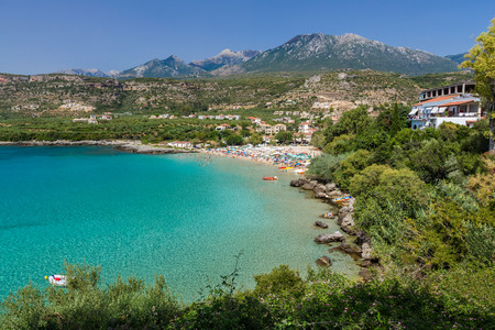 peloponnese: Kalogria beach in Peloponnese, Greece