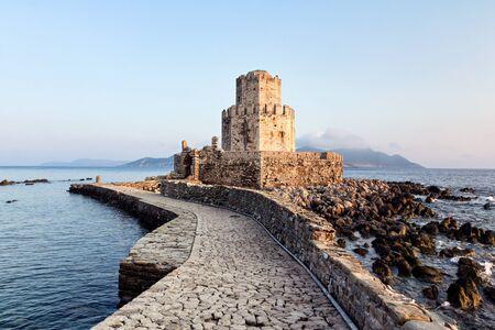 castillos: castillo medieval en Methoni, Grecia Foto de archivo