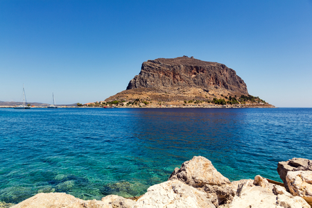 peloponnesus: Monemvasia rock in Peloponnese, Greece