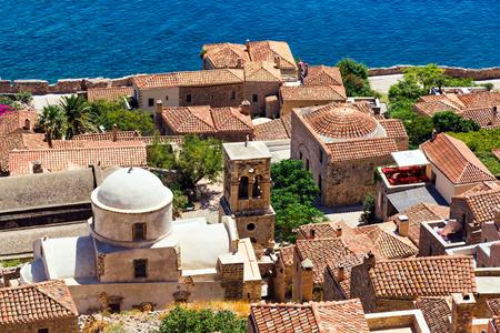 peloponnesus: Monemvasia village in Peloponnese, Greece
