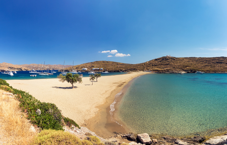 cycladic: Kolona exotic beach in Kythnos, Greece
