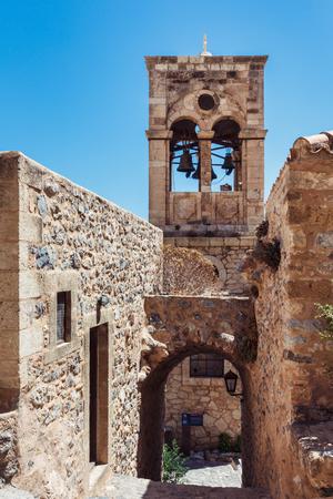 peloponnesus: Monemvasia medieval city traditional buildings