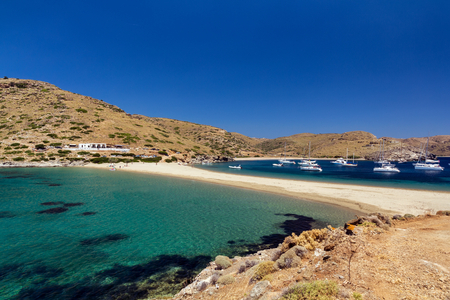cycladic: Kolona exotic beach in Kythnos island Greece