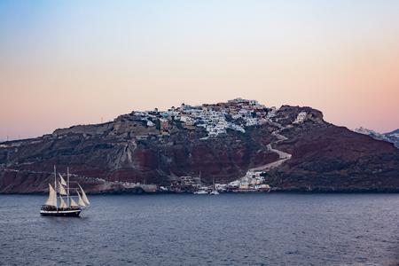 oia: Oia village in Santorini Greece