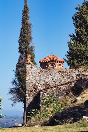 peloponnesus: Byzantine church in Mystras, Greece Stock Photo
