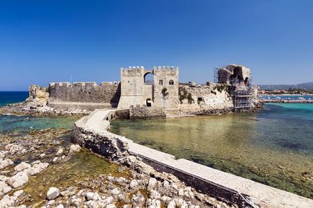 peloponnesus: Methoni medieval castle in Greece