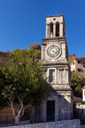 Church belltower in Lagadia, Greece Stock Photo
