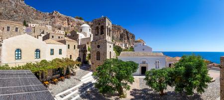 peloponnesus: Monemvasia main square in Peloponnese, Greece