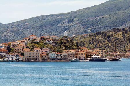 poros: Poros island, Greece, main village