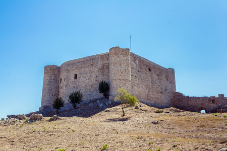 peloponnesus: Castle of Kyllini in Peloponnese, Greece Stock Photo