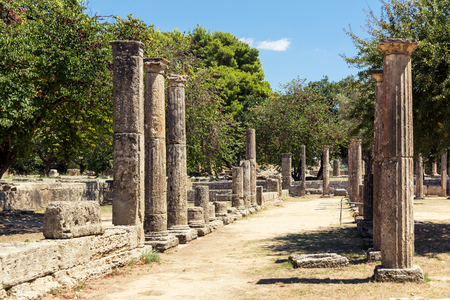 archaeological: Olympia archaeological site in Greece