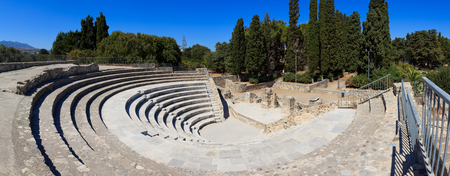 kos: Ancient theater in Kos town, Greece Stock Photo