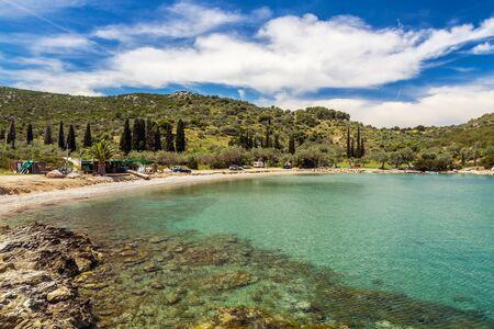 poros: Calm beach in Poros island, Greece