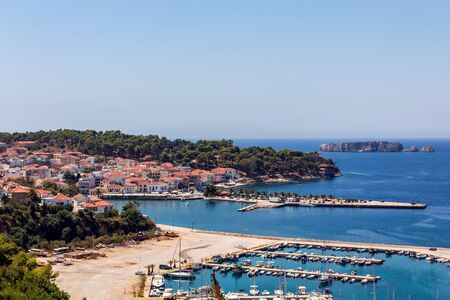 peloponnese: Pylos city and port in Peloponnese, Greece