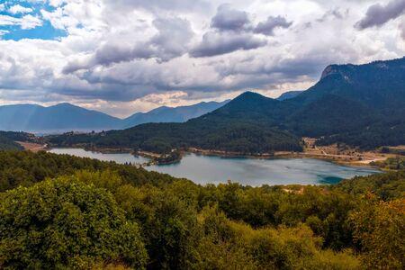 peloponnesus: Doxa lake in Trikala, Korinthos, Greece Stock Photo