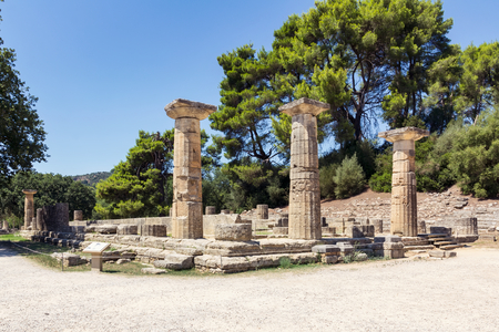 peloponnesus: Olympia archaeological site in Greece
