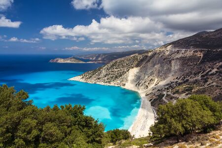 cefalonia: Myrtos famous beach in Kefalonia, Greece