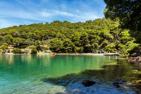 poros: Port of Love in Poros, Greece Stock Photo