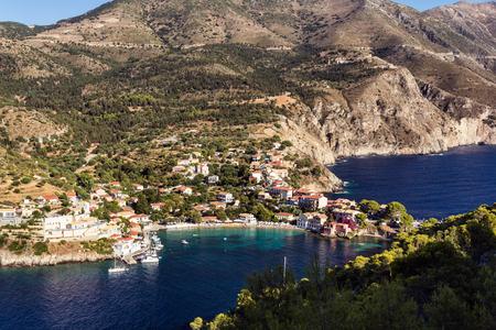 cefalonia: Assos village in Kefalonia, Greece Stock Photo