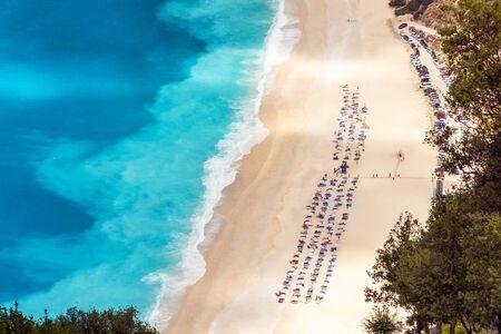 cefalonia: Myrtos beach in Kefalonia, Greece