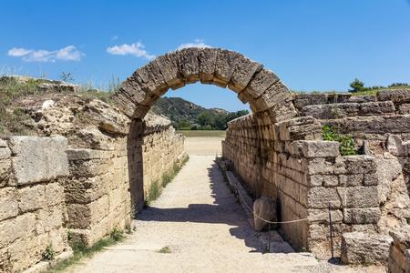 peloponnesus: Olympia ancient stadium in Greece