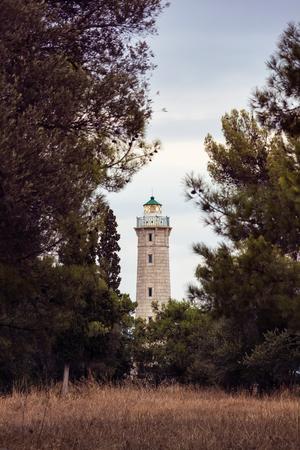 peloponnesus: Picturesque lighthouse in Gytheio, Greece Stock Photo