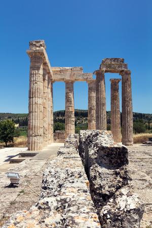 peloponnesus: Ancient temple in Nemea, Greece