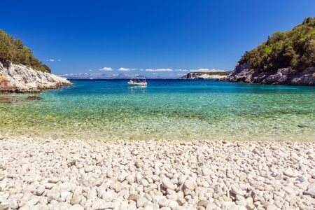 kefalonia: Dafnoudi beach in Kefalonia, Greece Stock Photo