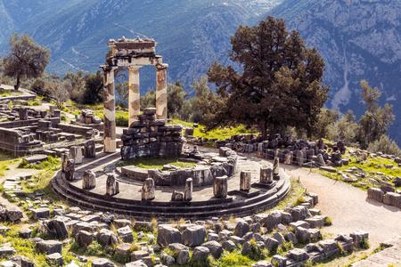 Athena ancient temple, Delfoi, Greece