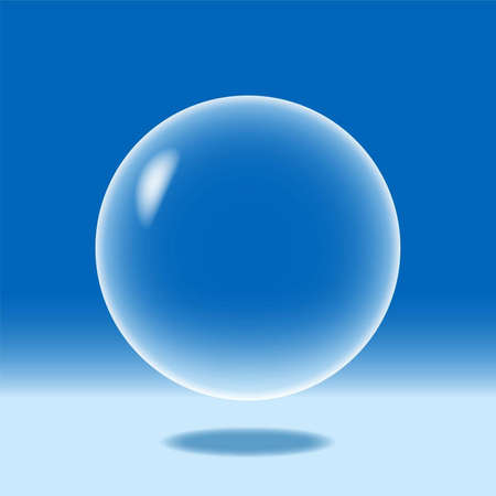 transparent drop: An illustration of a blue sphere