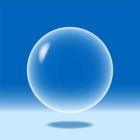 water molecule: Una ilustraci�n de una esfera azul Vectores