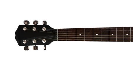 gitara: zbliżenie widok z góry na gitarze akustycznej i boki szyi wrzeciennika