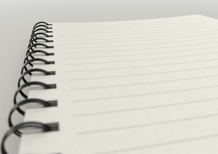 hard bound: a  blank lined note pad on a plain surface close up