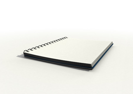 hard bound: a Blank lined notepad on white surface