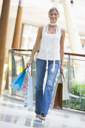 causcasian: Woman in shopping mall
